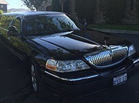 Limousine at the Winery in Napa Valley