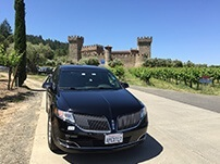 Our Limo at Castello di Amorosa